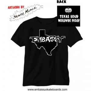 Embassy Skateboards TEXAS LOGO T-Shirt
