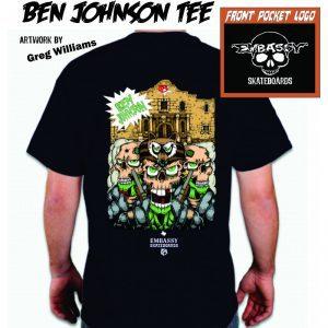Embassy Skateboards, Ben Johnson Tee shirt