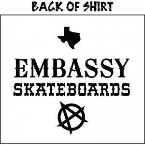 Embassy Skateboards, Jed Fuller, Tee Shirt