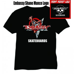 Embassy Skateboards Bones Anarchy Logo
